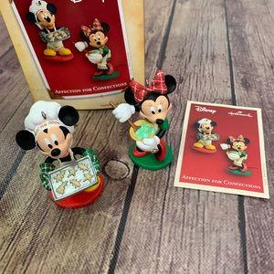 HALLMARK Disney Mickey & Minnie Baking Ornaments
